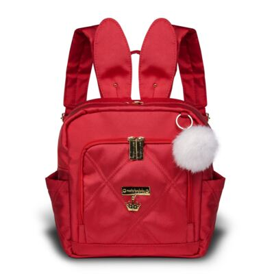 Imagem 1 do produto Mochila maternidade Bunny Cereja Classic Golden - Masterbag
