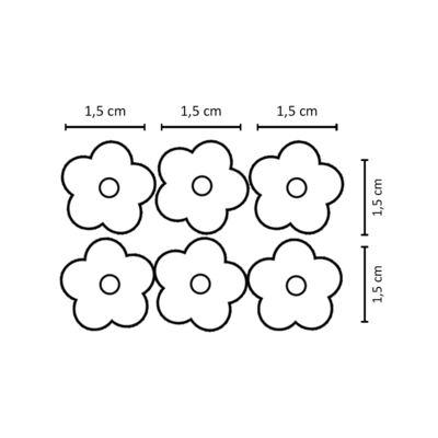 Imagem 2 do produto Kit: 6 Flores em crochê c/ velcro Branca/Rosa/Marfim - Roana