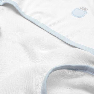 Imagem 2 do produto Toalha Fralda com Capuz Ursinho Azul bebê - Classic for Baby