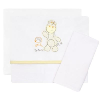 Imagem 1 do produto Jogo de lençol para carrinho em malha Giraffe Friend - Classic for Baby
