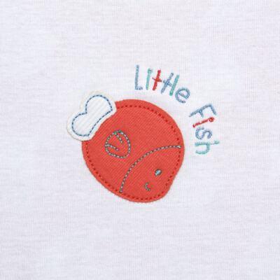 Imagem 2 do produto Manta para bebe forrada em malha Cute Fish - Classic for Baby