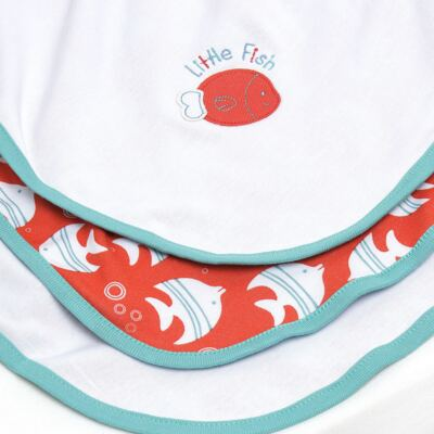Imagem 3 do produto Manta para bebe forrada em malha Cute Fish - Classic for Baby