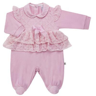 Imagem 4 do produto Jogo Maternidade para bebe com Macacão e Manta em suedine Gabrielly - Beth Bebê - BB8824 Saida Maternidade Suedine Gabrielly-RN