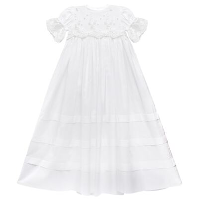 Imagem 1 do produto Mandrião Batizado para bebe Pérolas & Renda Branco - Roana