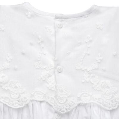 Imagem 3 do produto Mandrião Batizado para bebe Pérolas & Renda Branco - Roana