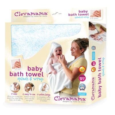 Imagem 1 do produto Toalha Mamãe Bebê com capuz Azul- Clevamama
