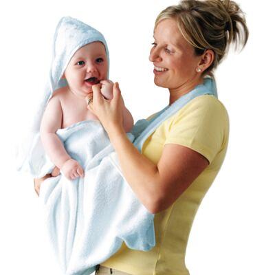 Imagem 2 do produto Toalha Mamãe Bebê com capuz Azul- Clevamama