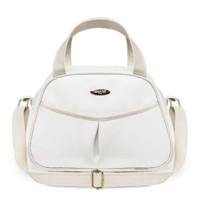 Imagem 3 do produto Kit Bolsa maternidade para bebe + Frasqueira Branco/Marfim Unique - Classic for Baby Bags