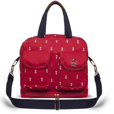 Imagem 1 do produto Bolsa maternidade para bebe Ibiza Navy em sarja Vermelha - Classic for Baby Bags