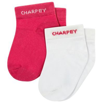 Imagem 1 do produto Pack 2 meias Soquete Branco/Pink - Charpey