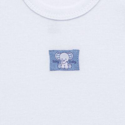 Imagem 3 do produto Pack Elefantinho: 02 regatas em high comfort - Vicky Baby - 1021-713 ELEF AZUL PK 2 RGT BEBE SUED HIGH-P