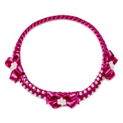 Imagem 1 do produto Faixa de cabelo trançada Laços & Pérolas Pink - Roana