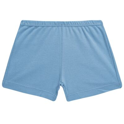 Imagem 4 do produto Pijama curto para bebe em suedine Dino - Dedeka - DDK17123/L44 Pijama Ribana Azul Sereno-M