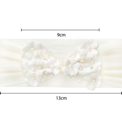 Imagem 2 do produto Faixa meia Laço Mini Flores Marfim - Roana