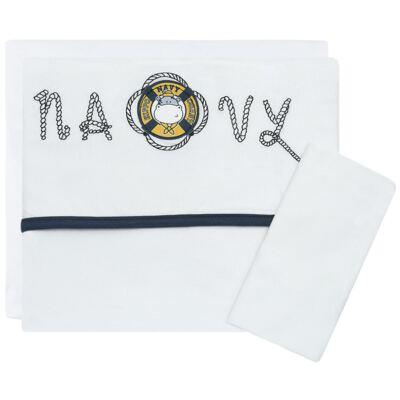 Imagem 1 do produto Jogo de lençol para carrinho em malha Hippo Sailor - Classic for Baby