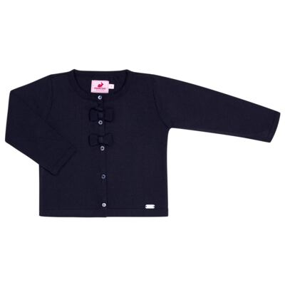 Imagem 1 do produto Cardigan em tricot Lacinhos Marinho - Missfloor