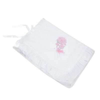 Imagem 3 do produto Manta babadinhos para bebe em suedine Hortênsias - Anjos Baby