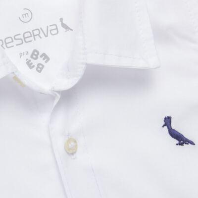 Imagem 2 do produto Camisa para bebe em chambray Branca - Reserva Mini - RM23161 CAMISA BB CHAMBRAY COLOR-1