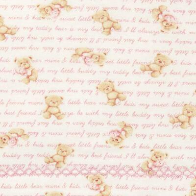 Imagem 2 do produto Jogo de lençol para berço em algodão egípcio c/ jato de cerâmica e filtro solar fps 50 Maternity Pink Bear - Classic for Baby