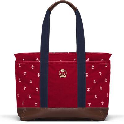 Imagem 1 do produto Bolsa maternidade para bebe Sidney em sarja Navy Vermelha - Classic for Baby Bags