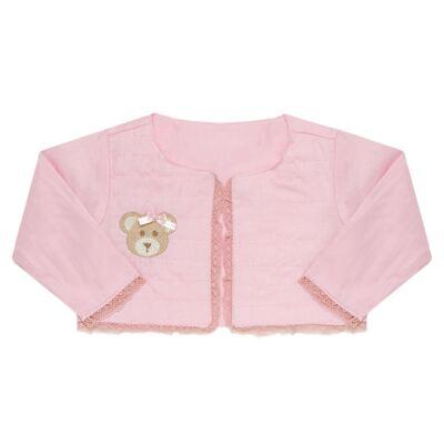 Imagem 4 do produto Conjunto Matelassê para bebe Ursinha: Casaco + Body longo + Calça - Roana