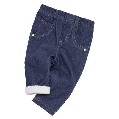 Imagem 5 do produto Calça para bebe forrada em fleece Basic Denim - Mini & Kids - CLCF0001.232 CALÇA C/FORRO - FLEECE-M