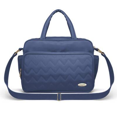 Imagem 1 do produto Bolsa maternidade para bebe Turin Chevron Safira - Classic for Baby Bags