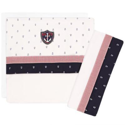 Imagem 1 do produto Jogo de lençol para berço em malha Navy - Classic for Baby