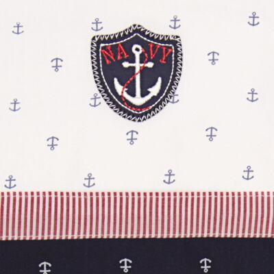 Imagem 2 do produto Jogo de lençol para berço em malha Navy - Classic for Baby