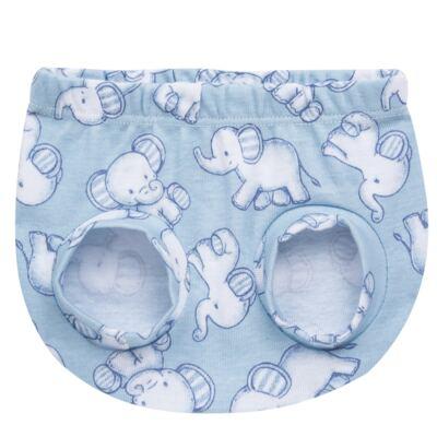 Imagem 2 do produto Pack Elefantinho: 02 Cobre Fraldas para bebe em high comfort - Vicky Baby - 1022-713 ELEF AZUL PK 2 COBRE BEBE SUED HIGH -M