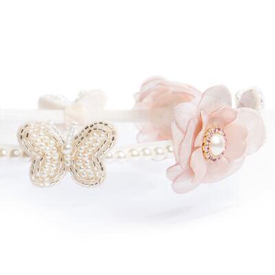 Imagem 2 do produto Coroa Flores & Pérolas Rose - Roana