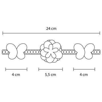 Imagem 3 do produto Coroa Flores & Pérolas Rose - Roana