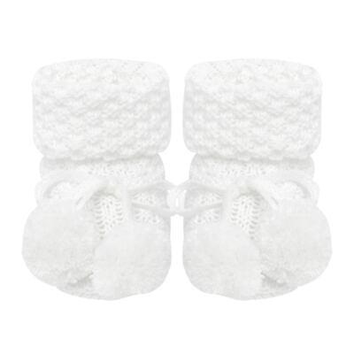 Imagem 1 do produto Botinha due pompom em tricot Branca - Roana
