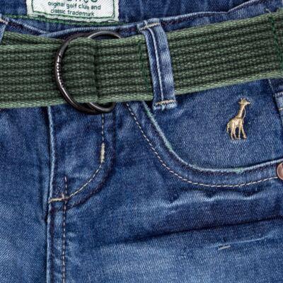 Imagem 2 do produto Calça c/ Cinto em jeans Destroyed - Toffee