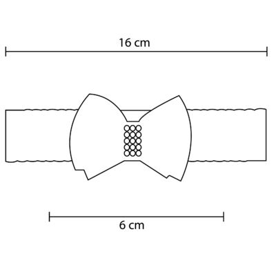 Imagem 2 do produto Faixa renda Laço Organza & Pérolas Vermelha - Roana