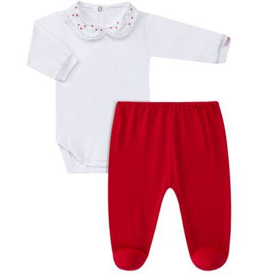 Imagem 1 do produto Body com Mijão para bebe em malha Florzinha - Roana