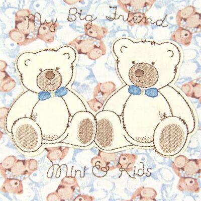 Imagem 2 do produto Jogo de lençol para berço em malha Blue Teddy Bear - Classic for Baby