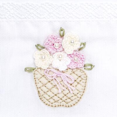 Imagem 2 do produto Jogo de lençol para berço em malha Florzinhas - Roana
