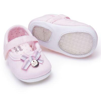 Imagem 2 do produto Sapatilha laço para bebe em suedine Rosa bebê - Mini & Kids - 510.008.2801999 SAPATILHA VELCRO 0 MK-17