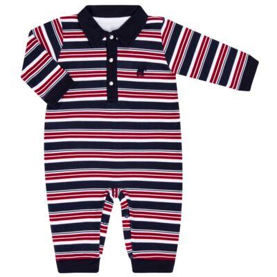 Imagem 1 do produto Macacão Polo para bebe em algodão egípcio Norfolk - Grow Up - 02010425.0017 MACACAO DOG VERMELHO -G