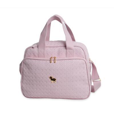 Imagem 2 do produto Bolsa maternidade + Frasqueira térmica + Porta Mamadeira Tressê Rosa - Majov