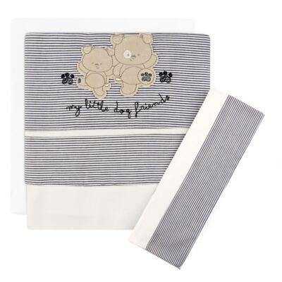 Imagem 1 do produto Jogo de lençol para berço em malha Dog Friends - Classic for Baby