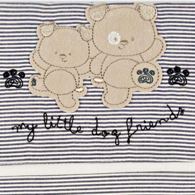 Imagem 2 do produto Jogo de lençol para berço em malha Dog Friends - Classic for Baby