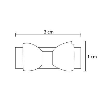 Imagem 2 do produto Kit: 3 Lacinhos c/ velcro Cetim & Renda Branco/Rosa/Bege - Roana