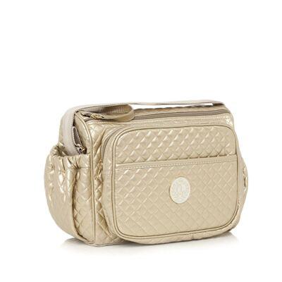 Imagem 3 do produto Bolsa maternidade + Frasqueira New Metálica Ouro - Lequiqui