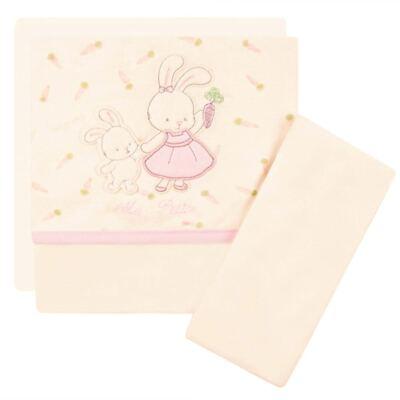 Imagem 1 do produto Jogo de lençol para carrinho em malha Ma Petite Rabbit - Classic for Baby