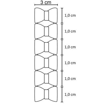 Imagem 2 do produto Kit: 6 Laços adesivos Rosa/Branco - Roana