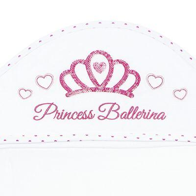 Imagem 3 do produto Toalha Max com capuz atoalhado Princess Ballerina - Classic for Baby