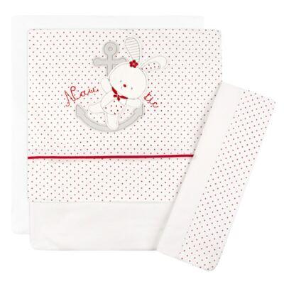 Imagem 1 do produto Jogo de lençol para berço em malha Bear Marine - Classic for Baby