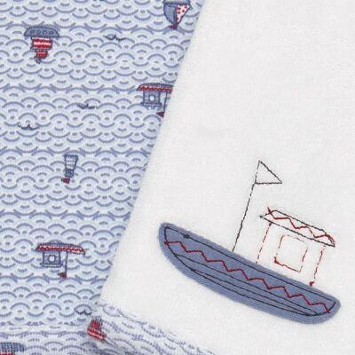 Imagem 2 do produto Kit com 2 fraldas de boca atoalhadas Boat - Classic for Baby